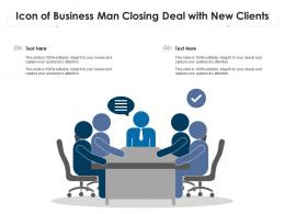 Icon Of Business Man Closing Deal With New Clients