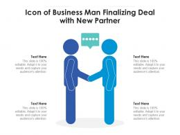 Icon Of Business Man Finalizing Deal With New Partner