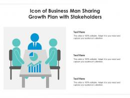 Icon Of Business Man Sharing Growth Plan With Stakeholders