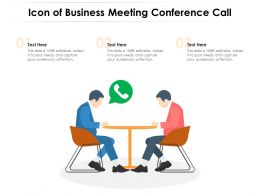 Icon Of Business Meeting Conference Call