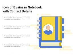 Icon Of Business Notebook With Contact Details