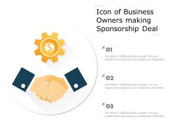 Icon Of Business Owners Making Sponsorship Deal