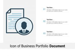 Icon Of Business Portfolio Document