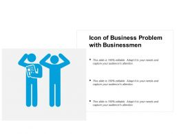 Icon Of Business Problem With Businessmen