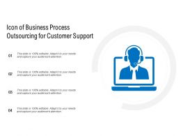 Icon Of Business Process Outsourcing For Customer Support