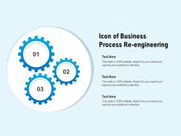 Icon Of Business Process Re Engineering