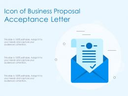 Icon Of Business Proposal Acceptance Letter