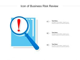 Icon Of Business Risk Review