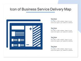 Icon Of Business Service Delivery Map