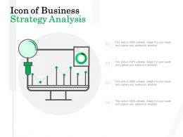 Icon Of Business Strategy Analysis