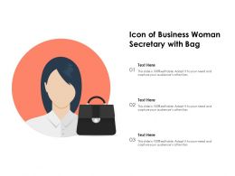 Icon Of Business Woman Secretary With Bag