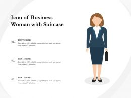 Icon Of Business Woman With Suitcase