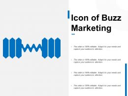 Icon Of Buzz Marketing