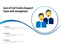 Icon Of Call Centre Support Team With Headphone