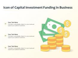 Icon Of Capital Investment Funding In Business