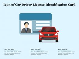 Icon Of Car Driver License Identification Card