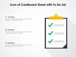Icon Of Cardboard Sheet With To Do List