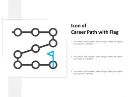 Icon Of Career Path With Flag