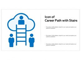 Icon Of Career Path With Stairs