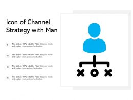 Icon Of Channel Strategy With Man