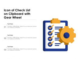 Icon Of Check List On Clipboard With Gear Wheel