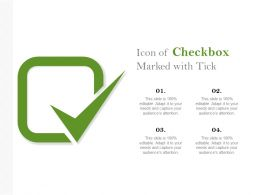 Icon Of Checkbox Marked With Tick
