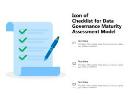 Icon Of Checklist For Data Governance Maturity Assessment Model