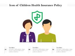 Icon Of Children Health Insurance Policy