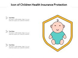 Icon Of Children Health Insurance Protection