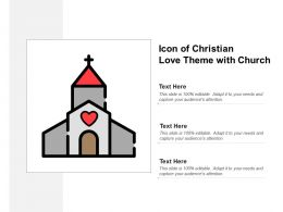 Icon Of Christian Love Theme With Church