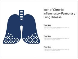 Icon Of Chronic Inflammatory Pulmonary Lung Disease