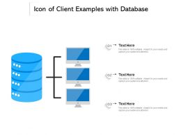 Icon Of Client Examples With Database