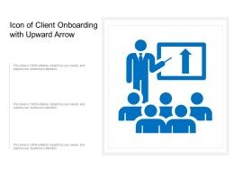 Icon Of Client Onboarding With Upward Arrow