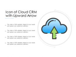 Icon Of Cloud CRM With Upward Arrow