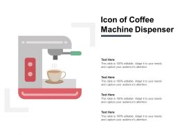 Icon Of Coffee Machine Dispenser
