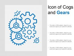 Icon Of Cogs And Gears