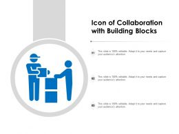 Icon Of Collaboration With Building Blocks