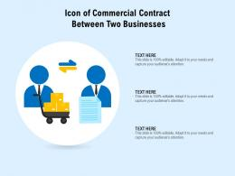 Icon Of Commercial Contract Between Two Businesses