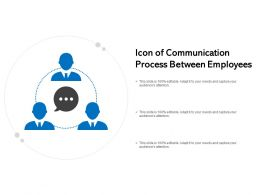 Icon Of Communication Process Between Employees