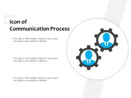 Icon Of Communication Process