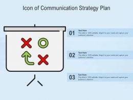 Icon Of Communication Strategy Plan