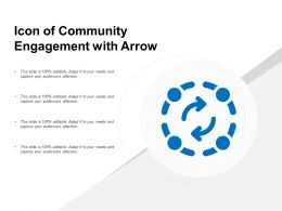 Icon Of Community Engagement With Arrow