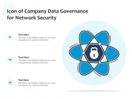Icon Of Company Data Governance For Network Security