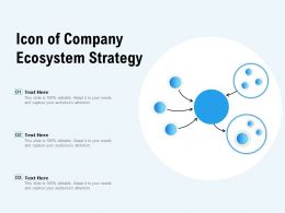 Icon Of Company Ecosystem Strategy