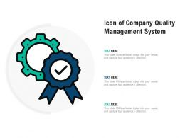 Icon Of Company Quality Management System