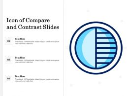 Icon Of Compare And Contrast Slides