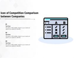 Icon Of Competition Comparison Between Companies