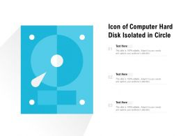 Icon Of Computer Hard Disk Isolated In Circle