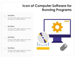 Icon Of Computer Software For Running Programs