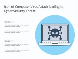 Icon Of Computer Virus Attack Leading To Cyber Security Threat